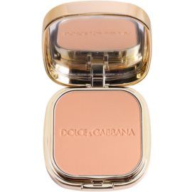 Dolce & Gabbana The Foundation Perfect Matte Powder Foundation matirajoča pudrasta podlaga z ogledalom in aplikatorjem odtenek No. 100 Warm  15 g