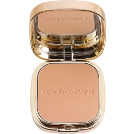 Dolce & Gabbana The Foundation Perfect Matte Powder Foundation matirajoča pudrasta podlaga z ogledalom in aplikatorjem odtenek No. 110 Caramel  15 g