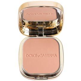 Dolce & Gabbana The Foundation Perfect Matte Powder Foundation matující pudrový make up se zrcátkem a aplikátorem odstín No. 130 Honey  15 g