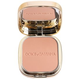 Dolce & Gabbana The Foundation Perfect Matte Powder Foundation matujący, pudrowy podkład z lusterkiem i aplikatorem odcień No. 130 Honey  15 g