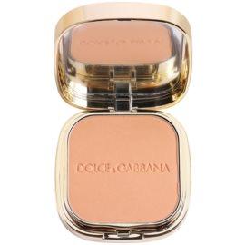 Dolce & Gabbana The Foundation Perfect Matte Powder Foundation matirajoča pudrasta podlaga z ogledalom in aplikatorjem odtenek No. 140 Tan  15 g