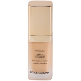 Dolce & Gabbana The Foundation Perfect Matte Liquid Foundation make up pentru un aspect mat culoare No. 75 Bisque SPF 20  30 ml