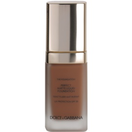 Dolce & Gabbana The Foundation Perfect Matte Liquid Foundation make-up pro matný vzhled odstín No. 170 Golden Honey SPF 20  30 ml