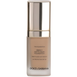 Dolce & Gabbana The Foundation Perfect Matte Liquid Foundation make-up pro matný vzhled odstín No. 110 Caramel SPF 20  30 ml