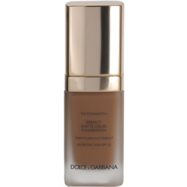 Dolce & Gabbana The Foundation Perfect Matte Liquid Foundation make up pentru un aspect mat culoare No. 180 Soft Sable SPF 20  30 ml