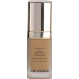Dolce & Gabbana The Foundation Perfect Matte Liquid Foundation make-up pro matný vzhled odstín No. 120 Natural Beige SPF 20  30 ml