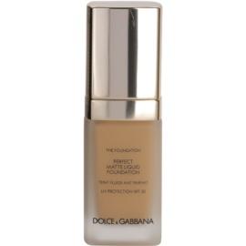 Dolce & Gabbana The Foundation Perfect Matte Liquid Foundation make up pentru un aspect mat culoare No. 120 Natural Beige SPF 20  30 ml