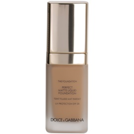 Dolce & Gabbana The Foundation Perfect Matte Liquid Foundation make-up pro matný vzhled odstín No. 130 Warm Rose SPF 20  30 ml