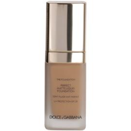 Dolce & Gabbana The Foundation Perfect Matte Liquid Foundation make up pentru un aspect mat culoare No. 130 Warm Rose SPF 20  30 ml