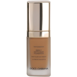 Dolce & Gabbana The Foundation Perfect Matte Liquid Foundation make-up pro matný vzhled odstín No. 140 Rose Beige SPF 20  30 ml