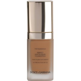 Dolce & Gabbana The Foundation Perfect Matte Liquid Foundation make up pentru un aspect mat culoare No. 144 Bronze SPF 20  30 ml