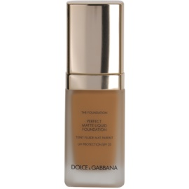 Dolce & Gabbana The Foundation Perfect Matte Liquid Foundation make-up pro matný vzhled odstín No. 148 Amber SPF 20  30 ml