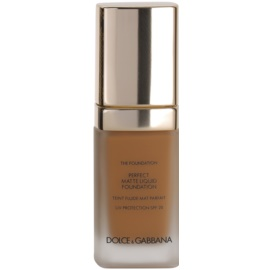 Dolce & Gabbana The Foundation Perfect Matte Liquid Foundation make-up pro matný vzhled odstín No. 150 Almond SPF 20  30 ml