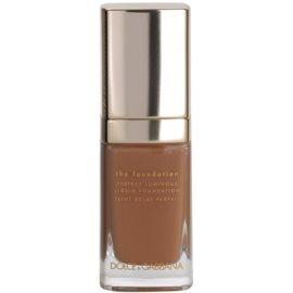 Dolce & Gabbana The Foundation Perfect Luminous Liquid Foundation лек кадифен фон дьо тен за озаряване на лицето цвят No. 180 Soft Sable  30 мл.