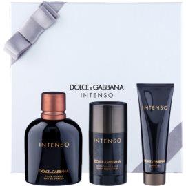 Dolce & Gabbana Pour Homme Intenso подаръчен комплект III. парфюмна вода 125 ml + део-стик 75 ml + душ гел 50 ml