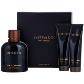 Dolce & Gabbana Pour Homme Intenso подаръчен комплект IV. парфюмна вода 125 ml + балсам след бръснене 50 ml + душ гел 50 ml