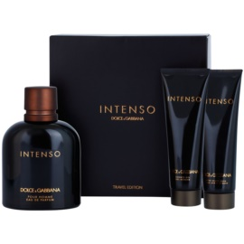 Dolce & Gabbana Pour Homme Intenso set cadou IV.  Eau de Parfum 125 ml + After Shave Balsam 50 ml + Gel de dus 50 ml