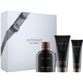 Dolce & Gabbana Pour Homme Intenso lote de regalo I.  eau de parfum 125 ml + bálsamo after shave 100 ml + gel de ducha 50 ml
