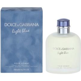 Dolce & Gabbana Light Blue Pour Homme Eau de Toilette für Herren 200 ml