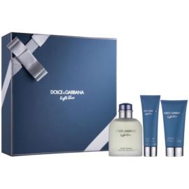 Dolce & Gabbana Light Blue Pour Homme zestaw upominkowy I. woda toaletowa 125 ml + żel pod prysznic 50 ml + balsam po goleniu 75 ml