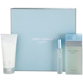 Dolce & Gabbana Light Blue подаръчен комплект IX. тоалетна вода 100 ml + лосион за тяло 100 ml + тоалетна вода 7,4 ml