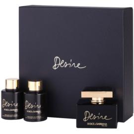 Dolce & Gabbana The One Desire darilni set I. parfumska voda (Intense) 75 ml + losjon za telo 100 ml + gel za prhanje 100 ml