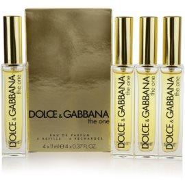 Dolce & Gabbana The One parfémovaná voda pro ženy 4 x 11 ml náplň s rozprašovačem