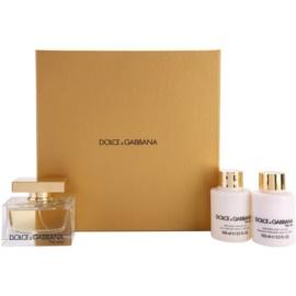 Dolce & Gabbana The One Geschenkset I. Eau de Parfum 75 ml + Körperlotion 100 ml + Duschgel 100 ml