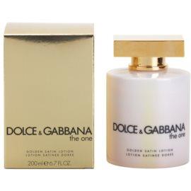 Dolce & Gabbana The One leche corporal para mujer 200 ml (golden satin)