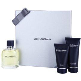 Dolce & Gabbana Pour Homme ajándékszett IV. Eau de Toilette 125 ml + borotválkozás utáni balzsam 100 ml + tusfürdő gél 50 ml