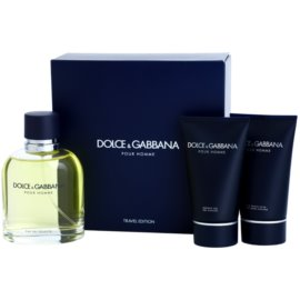 Dolce & Gabbana Pour Homme set cadou ІХ  Apa de Toaleta 125 ml + After Shave Balsam 50 ml + Gel de dus 50 ml