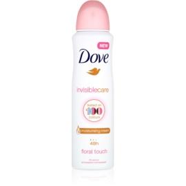 Dove Invisible Care Floral Touch antiperspirant proti belim madežem brez alkohola  150 ml