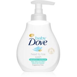 Dove Baby Sensitive Moisture gel za umivanje za telo in lase  200 ml