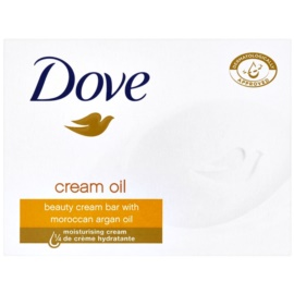 Dove Cream Oil tuhé mýdlo s arganovým olejem  100 g