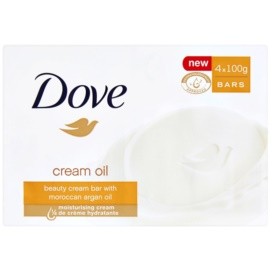 Dove Cream Oil tuhé mýdlo s arganovým olejem  4x100 g