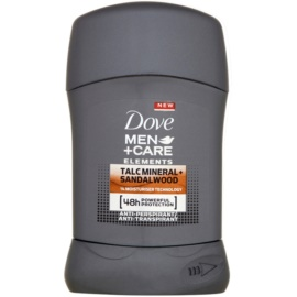 Dove Men+Care Elements tuhý antiperspitant 48h Talc Mineral + Sandalwood 50 ml