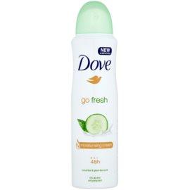 Dove Go Fresh Fresh Touch antiperspirant in dezodorant v pršilu 48 ur kumara in zeleni čaj  150 ml