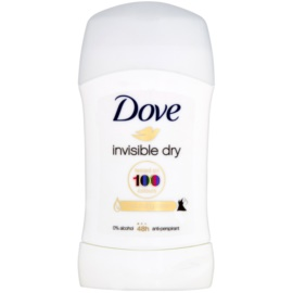 Dove Invisible Dry tuhý antiperspirant proti bielym škvrnám 48h  40 ml