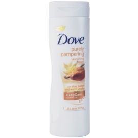 Dove Purely Pampering Shea Butter подхранващ лосион за тяло масло от шеа и ванилия  400 мл.