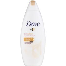 Dove Silk Glow vyživujúci sprchový gél pre jemnú a hladkú pokožku  250 ml