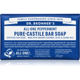 Dr. Bronner's Peppermint mydło w kostce  140 g