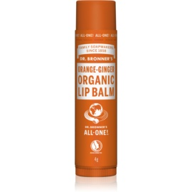 Dr. Bronner's Orange & Ginger balzám na rty  4 g