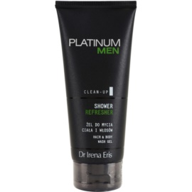 Dr Irena Eris Platinum Men Clean-Up osvěžující sprchový gel na tělo a vlasy  200 ml