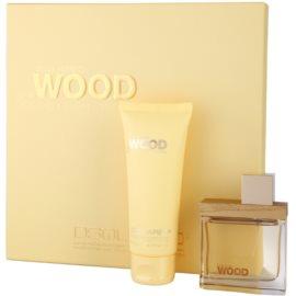 Dsquared2 She Wood Golden Light Wood darčeková sada I. parfémovaná voda 50 ml + telové mlieko 100 ml