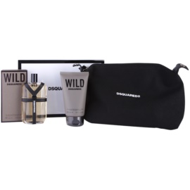 Dsquared2 Wild set cadou II.  Apa de Toaleta 100 ml + Gel de dus 100 ml + geanta cosmetice 1 ks