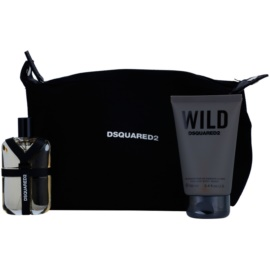 Dsquared2 Wild Gift Set  III.  Eau de Toilette 50 ml + Douchegel 100 ml + Cosmetica tas