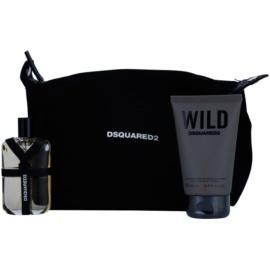 Dsquared2 Wild подаръчен комплект III. тоалетна вода 50 ml + душ гел 100 ml + козметична чанта