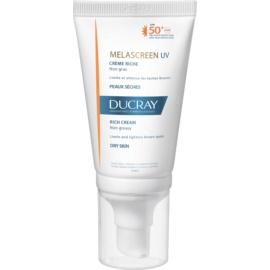 Ducray Melascreen сонцезахисний крем проти пігментних плям SPF 50+  40 мл