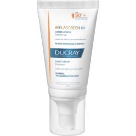 Ducray Melascreen lehký krém na opalování proti pigmentovým skvrnám SPF 50+  40 ml