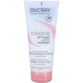 Ducray Ictyane penasti čistilni gel za normalno in suho kožo  200 ml
